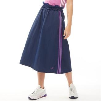 adidas Womens 3-Stripes Ruffle Skirt Collegiate Navy/Active Purple