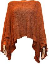 Ikat Ladies Crochet Lace Fish Net Batwing Poncho