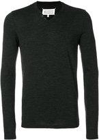 Maison Margiela V-neck jumper - men - Polyamide/Virgin Wool - 48