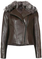 Yigal Azrouel faux fur-trim jacket
