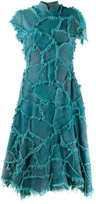 Charles Jeffrey Loverboy Frayed Denim Dress