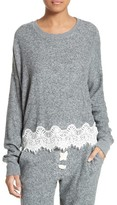 The Kooples Women's Lace Hem Sweatshirt