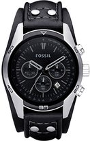 Fossil Men's Sports Chronograph Leather Cuff Dial Watch CH2586