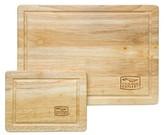Chicago Cutlery Rubberwood 2 Piece Cutting Board Set