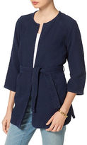 Tommy Hilfiger Quilted Denim Wrap Jacket