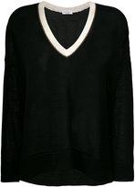 Brunello Cucinelli V neck knitted top