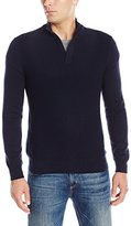 Perry Ellis Men's Classic Texture Quarter Zip Sweater