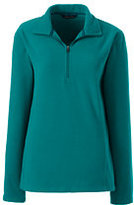 Classic Women's Petite Fleece Half-zip Pullover-Mulberry Wine