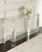Interlude Landis Acrylic Console Table