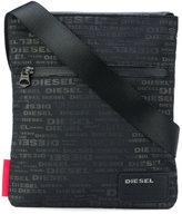 Diesel logo print messenger bag