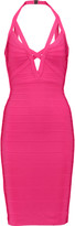 Herve Leger Lucee bandage halterneck dress