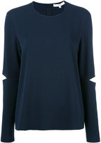 Tibi slit elbow sweatshirt - women - Polyester/Triacetate - 0