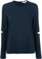 Tibi slit elbow sweatshirt - women - Polyester/Triacetate - 2