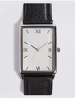 M&S Collection Slim Rectangle Watch