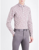 Duchamp Elegant floral-print tailored-fit cotton shirt