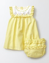 Boden Embroidered Ruffle Dress