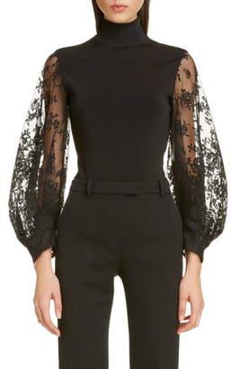Givenchy Lace Sleeve Bodysuit