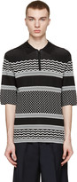 Neil Barrett Black and White Knit Polo