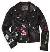 Blank NYC Blanknyc Girls' Embroidered Moto Jacket - Big Kid
