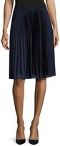Prada Pleated Mesh Knee Length Skirt