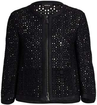 Akris Open Weave Zip-Front Jacket