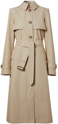 Burberry Technical Cotton Belted Trench Coat