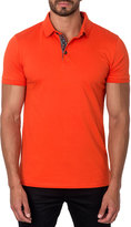 Jared Lang Short-Sleeve Cotton-Blend Polo Shirt, Orange