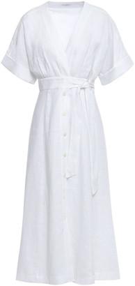 Equipment Nauman Belted Linen Midi Dress