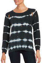 Vintage Havana Tie-Dyed Open-Knit Sweater