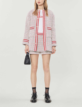 Maje Gerona cotton-blend tweed jacket