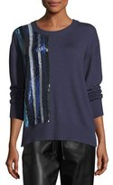 Prabal Gurung Sequined Cashmere Crewneck Sweater