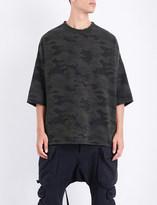 Unravel Oversized camouflage cotton-jersey sweatshirt