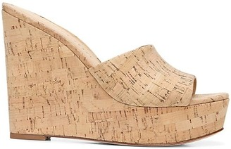 Veronica Beard Dali Cork Platform Wedge Sandals