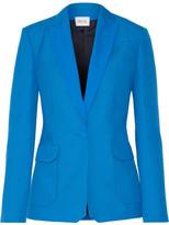 Pallas Andrea Grain De Poudre Wool Blazer - Azure