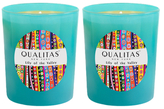 Qualitas Candles Lily of the Valley Beeswax Candles Beeswax Candles (Set of 2) (6.5 OZ)