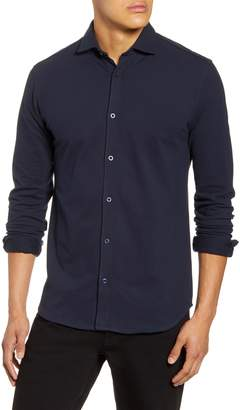 Selected Cole Slim Fit Stretch Cotton Button-Up Shirt