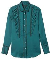 Banana Republic Dillon-Fit Ruffled Lace Shirt