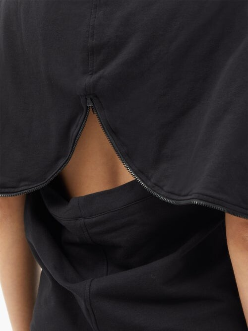 Thumbnail for your product : Norma Kamali Halterneck Zipped-hood Cotton-blend Jumpsuit - Black