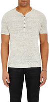 John Varvatos Men's Linen Henley Sweater