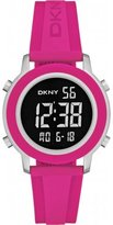 DKNY Women's Chronograph Pink Silicone Stainless Steel Case Quartz Watch ny2324