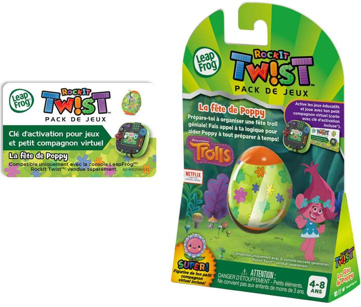 Leapfrog RockIt TwistTM Game Pack Trolls Party Time With Poppy - French Version