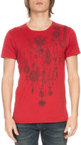Balmain Short-Sleeve Medal Graphic Tee, Red