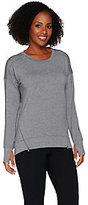 Cuddl Duds Comfortwear French Terry Pullover Top with Zip Detail