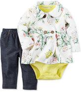Carter's 3-Pc. Jacket, Bodysuit & Denim Leggings Set, Baby Girls (0-24 months)