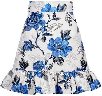 Sika'a Floral-Jacquard Mini Skirt