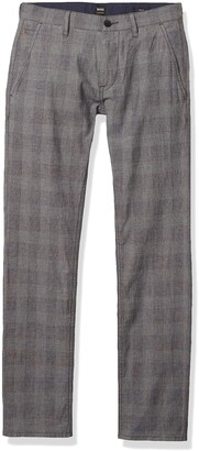 BOSS ORANGE Men's Grey Microcheck Slimfit Pant