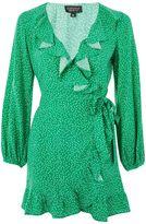 Topshop Spotted Ruffle Tea Dress