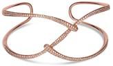 Effy Jewelry Effy Pave Rose 14K Rose Gold Diamond Bangle, 1.28 TCW