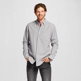 Merona Men's Double Weave Button Down Shirt Light Blue Stripe