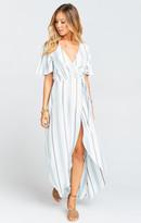 MUMU Marianne Wrap Dress ~ Oasis Stripe